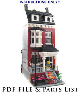 Lego Custom Modular Building House Instructions Only Ebay
