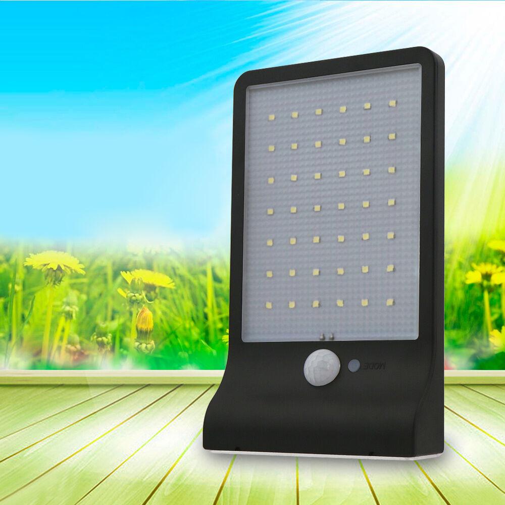 42 led 8 10lm solar power stree light motion sensor garden. Black Bedroom Furniture Sets. Home Design Ideas