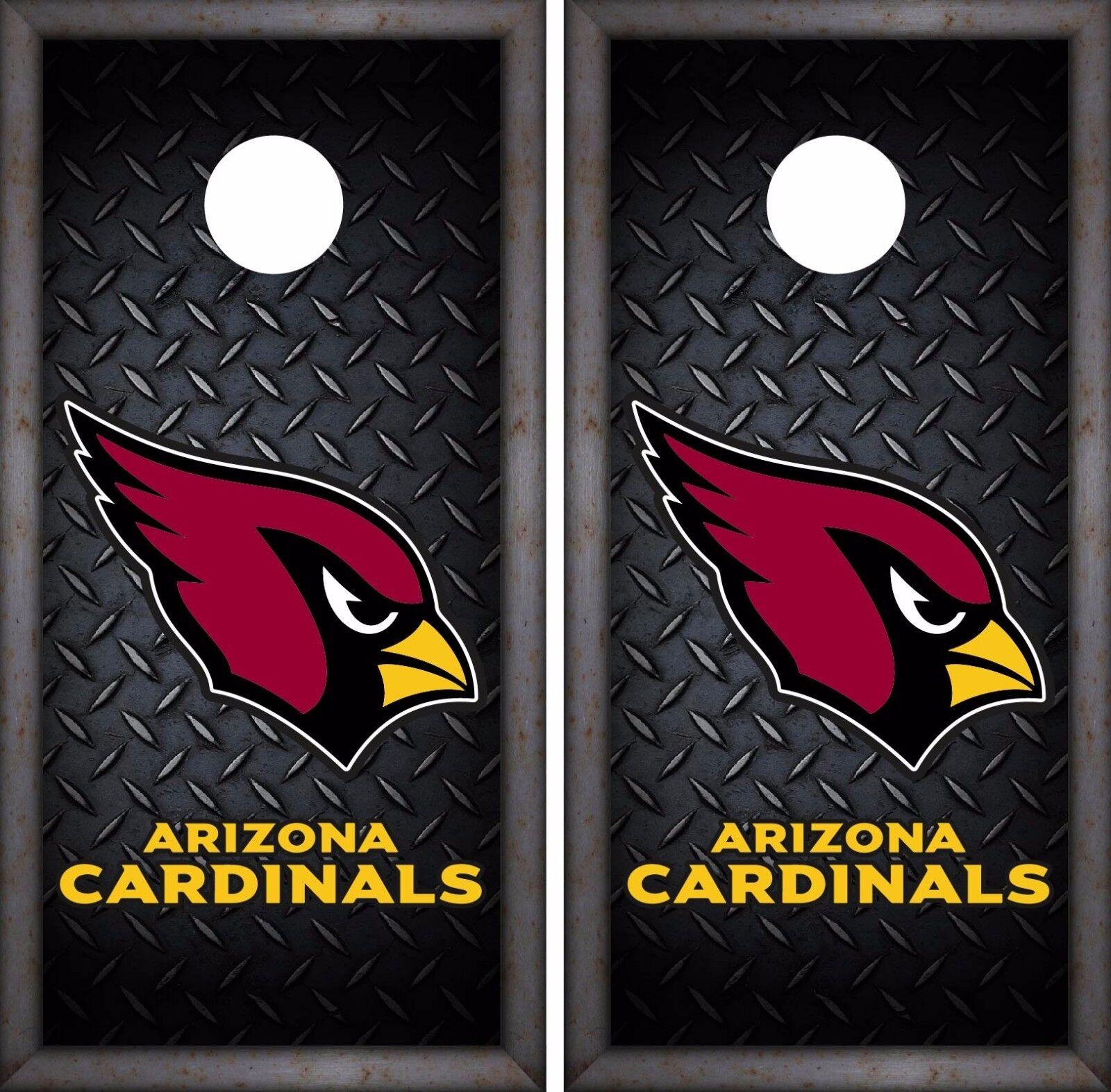 Arizona Cardinals Cornhole Skin Wrap NFL Team Football Luxury Decal Vinyl DR01