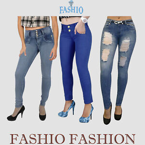 Women-s-Ladies-Skinny-Stretch-Denim-Jeans