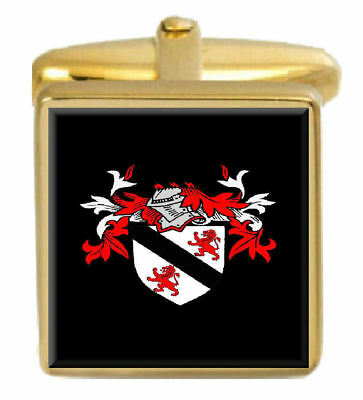 Select Gifts Mcmullan Ireland Family Crest Surname Coat Of Arms Cufflinks Personalised Case
