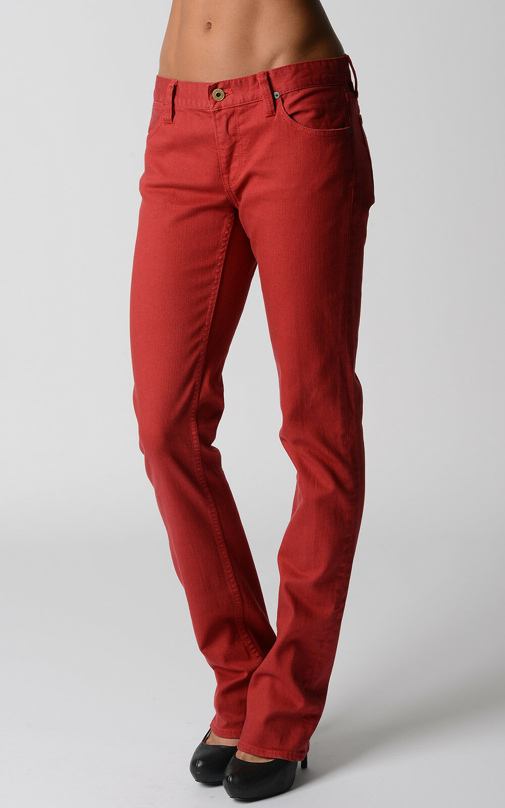 Ralph Lauren Womens Jeans Madison Boot Red Wash Pants Gift For Her NWT