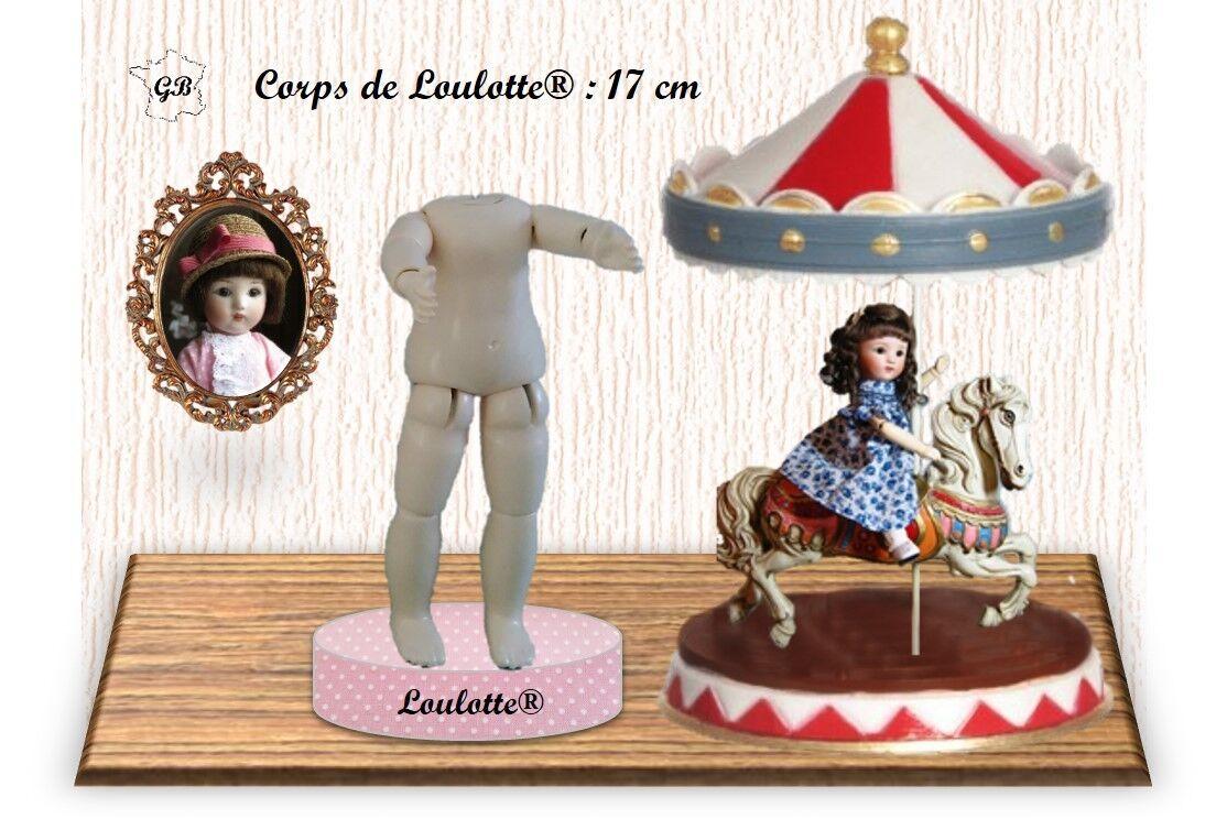 Corpo per Bambola Vintage. Altezza 17cm Taglia  Loulotte (G.Bravot Francia)  alta qualità e spedizione veloce