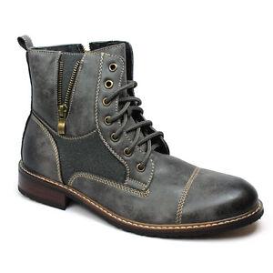 new s grey ferro aldo high top boots cap toe suede