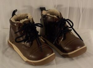 BOY'S JUMPING BEAN Toddler Boots Size 9 Brown & Blue ...