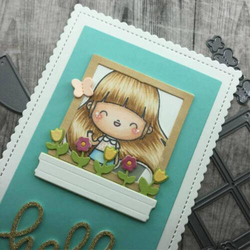 Circle Frame Box Cutting Dies Metal Stencil for DIY Scrapbooking Paper Cards