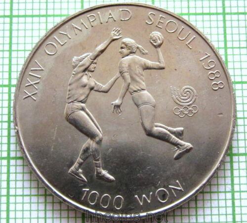 SEOUL OLYMPICS SOUTH KOREA 1987 1000 WON UNC HANDBALL