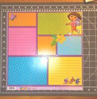 Scrapbook Paper 12 Dora The Explorer Boots Nickelodeon Retired Ek Success 25p
