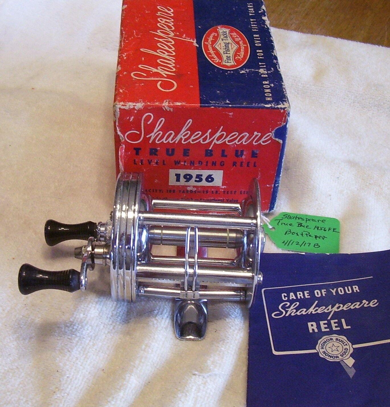 SHAKESPEARE TRUE blueeE 1956 FE  REEL  04 12  17 MW  BOX PAPER  online retailers
