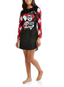 Details about Harley Quinn Womens Plus Size 2X/3X Nightgown Sleep Shirt DC  Comics Costume NWT