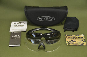 5945ffe69b Wiley-X TALON Z87 Tactical Safety Protective Glasses Smoke Clear Kit ...