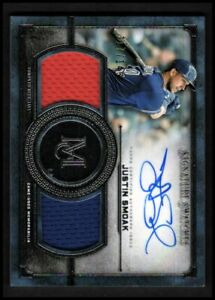 2019-Topps-Museum-Signature-Swatches-Dual-Jersey-AUTO-Justin-Smoak-117-149