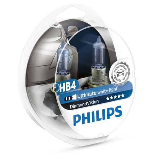 Philips Diamond Vision HB4 9006 car headlight bulbs 9006DVS2 55W P22d 5000K
