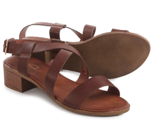 b5a99396d Image is loading NEW-YOKI-SHIRLS-BROWN-STRAPPY-SANDALS-WOMENS-10-