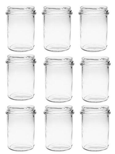 15 chute verres hauteur 230 ml pots de confiture bocaux einweckgläser Blanc