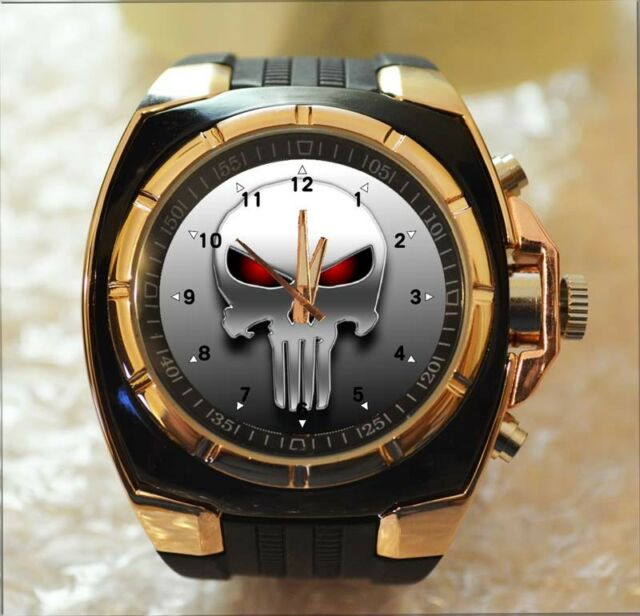 Punisher Skull 100% UNIQUE Commando Army Style Chunky Sport Gift Wrist Watch HOT