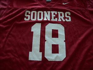 new arrival d1ed2 47307 Details about OKLAHOMA SOONERS OU BOYS YOUTH FOOTBALL JERSEY NIKE LARGE NEW
