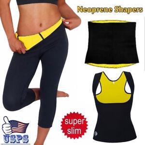 da369d475d Image is loading Women-Neoprene-Body-Shaper-Sweat-Sauna-Leggings-Slim-