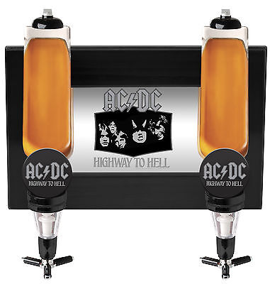 ACDC Double Wall Mounted Spirit Shot Dispenser Liquor Man Cave Bar Fathers Gift