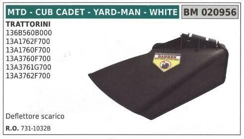 Deflettore scarico MTD trattorino rasaerba tosaerba tagliaerba 136B560B000 02095