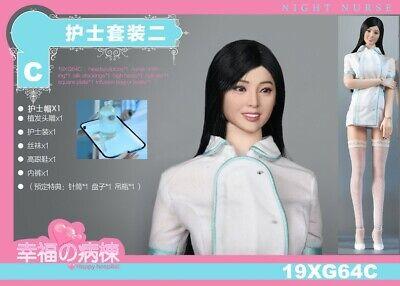 "VSTOYS 1:6 19XG64C Happy Hospital Nurse Head/&Clothes Props Fit 12/"" Action Figure"