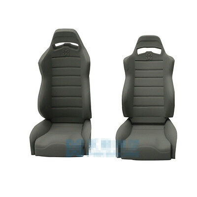 1//10 Scale RC Crawler Truck Rubber Seats Chair SCX10 Wraith Body Accessories 2pc