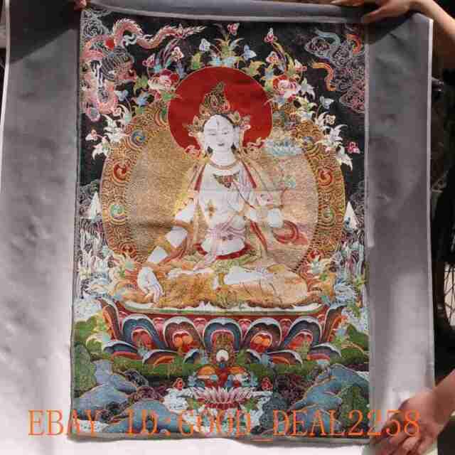 Tibetan Nepal Silk Embroidered thangka Tara Tibet Buddha --Samantabhadra  #25
