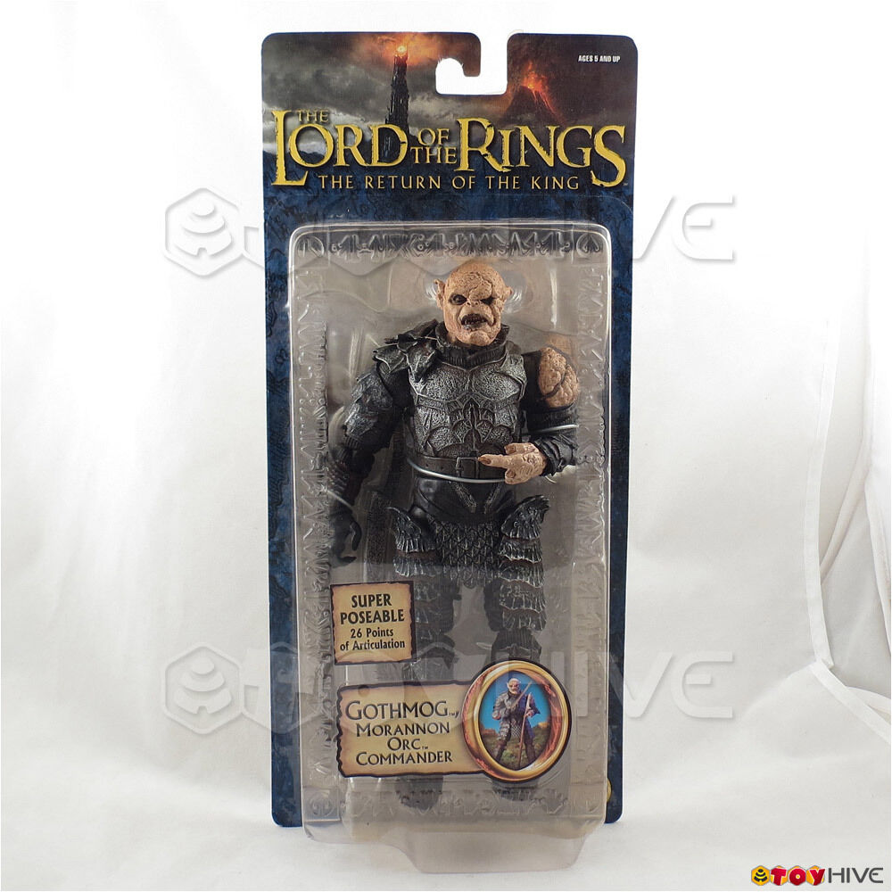Lord of the the the Rings Return of the King Gothmog Morannon Orc Commander - yellowed f7affb