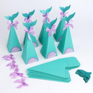 50Pcs-Mermaid-Candy-Box-Gift-Box-Little-Mermaid-Party-Kids-Birthday-Favors-Box