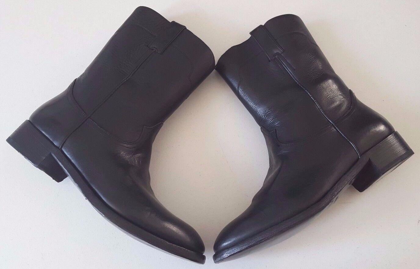 RALPH LAUREN COLLECTION ACKLEY schwarz VACHETTA COWBOY WESTERN Stiefel SZ 7.5D ITALY