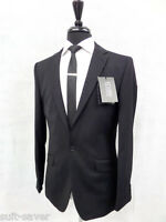 Suit Saver Jeff Banks Black Slim Fit Suit 38 40 42 44 Ns20