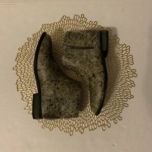 Roxy-Women-039-s-Roces-Embossed-Bootie-Ankle-Gray-Size-7