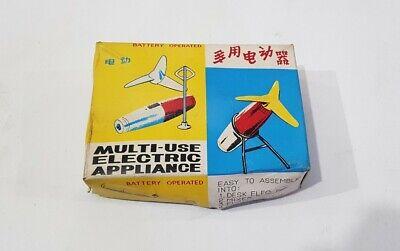 Vintage NOS Battery Operated ORANGE Mini Personal Fan No 193 Original Box China