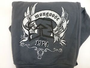 American-Apparel-Mongoose-Zip-up-Sweat-Shirt-JACKET-Gray-MENS-LARGE-Screen-Print