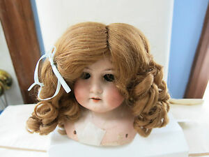 SIZE 8 PAIGE LIGHT BLONDE ANTIQUE MODERN DOLL WIG  SYNTHETIC MOHAIR
