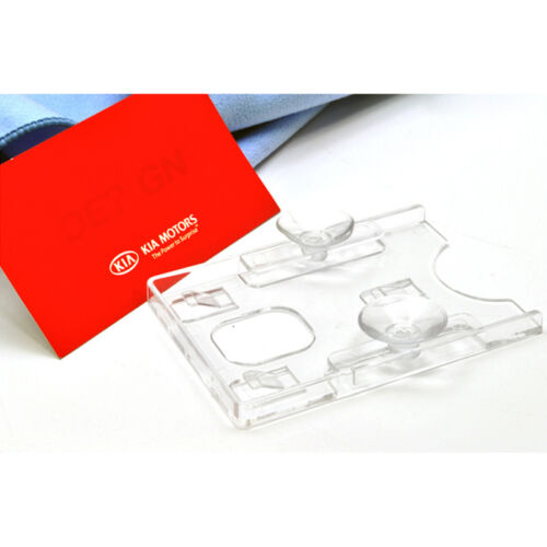 For All Vehicle Clear Acrylic Vertical Business Card Holder rubber suction