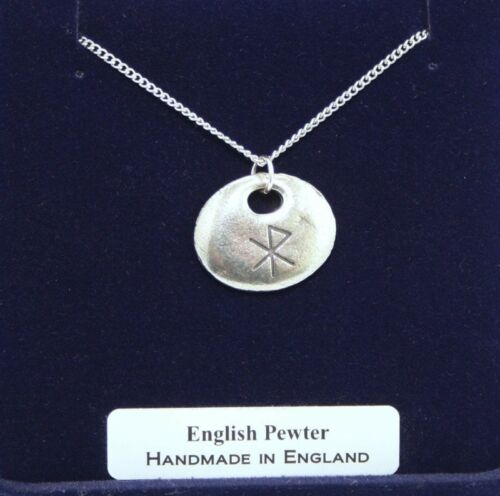 Handmade Viking Love Rune Necklace in Fine English Pewter Gift Boxed