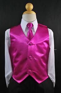 Toddler /& Kids YELLOW GOLD SATIN VEST /& TIE SET for Boy/'s Suit Tuxedo Sz 2T 14