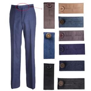 d51d189a0b5eb Unisex Waist Band Trousers Pant Extender Belt Hooks Button Garment ...
