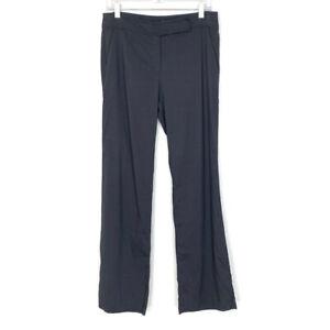 Eileen Fisher Womens Size 6 Linen Blend Pants Charcoal Grey Boot Cut Trousers