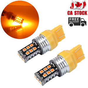 2X-T20-7440-7443-LED-AMBER-INDICATOR-TURN-SIGNAL-CAR-UTE-4WD-LIGHT-BULB-GLOBE-CA