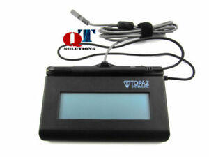 Details about Topaz SignatureGem T-LBK462-BSB-R USB Wired Signature  Terminal Pad LCD