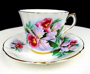 "ROYAL PRINCE #X1966/3 PINK DAFFODILS 2 7/8"" PANELED CUP AND SAUCER SET"
