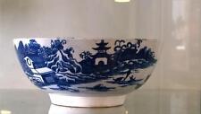"""Raro georgiano Swansea azul y blanca """"un hombre en puente 'pearlware Tazón C 1790+"""