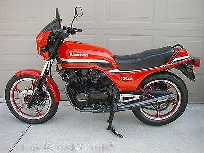 decal set Red model 1981 Kawasaki GPz550
