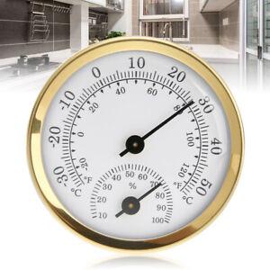 Indoor Analog Humidity Temperature Meter Gauge Thermometer Hygrometer Household