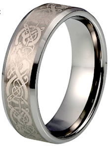 NEW-MENS-TUNGSTEN-CARBIDE-CELTIC-DRAGON-DESIGN-WEDDING-ENGAGEMENT-ETERNITY-RING