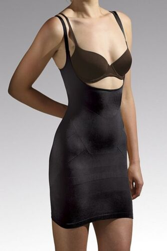 size M Cette All In One Body Black Smoother Control Dress Slip