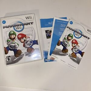 Nintendo Mario Kart Wii Racing Video Game *Case And Manual Only* No Game 2008