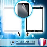 Vitre Ecran Tactile Pour Ipad Mini Blanc/noir, Ic Et Bouton + Film Protecteur